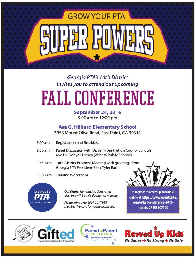 Fall Conference invite